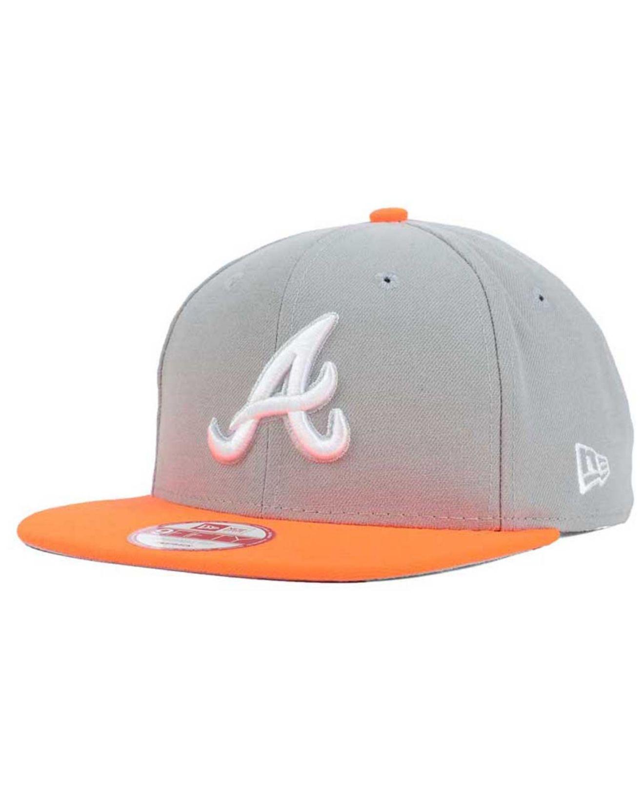 1f3ad9f0042 canada hats fanatics lyst ktz atlanta braves the queens 9fifty snapback cap  in gray for men