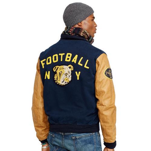 Polo Ralph Lauren Davidson Varsity Jacket In Blue For Men