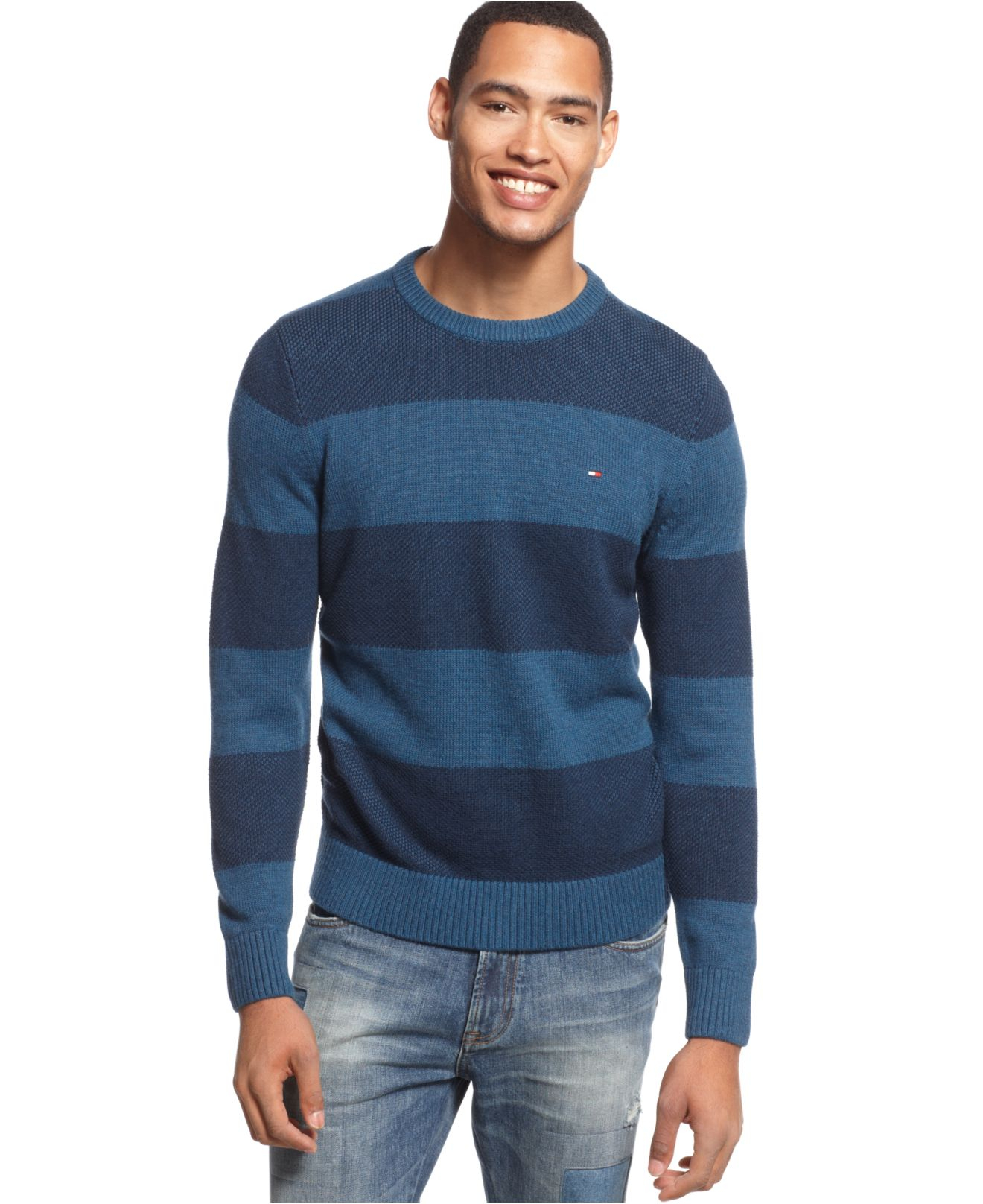 22161beb49321 Tommy Hilfiger - Wool Crewneck Sweater Mens Sweaters   Fleece Windsor Wine    ReadAndTellMe. Gallery