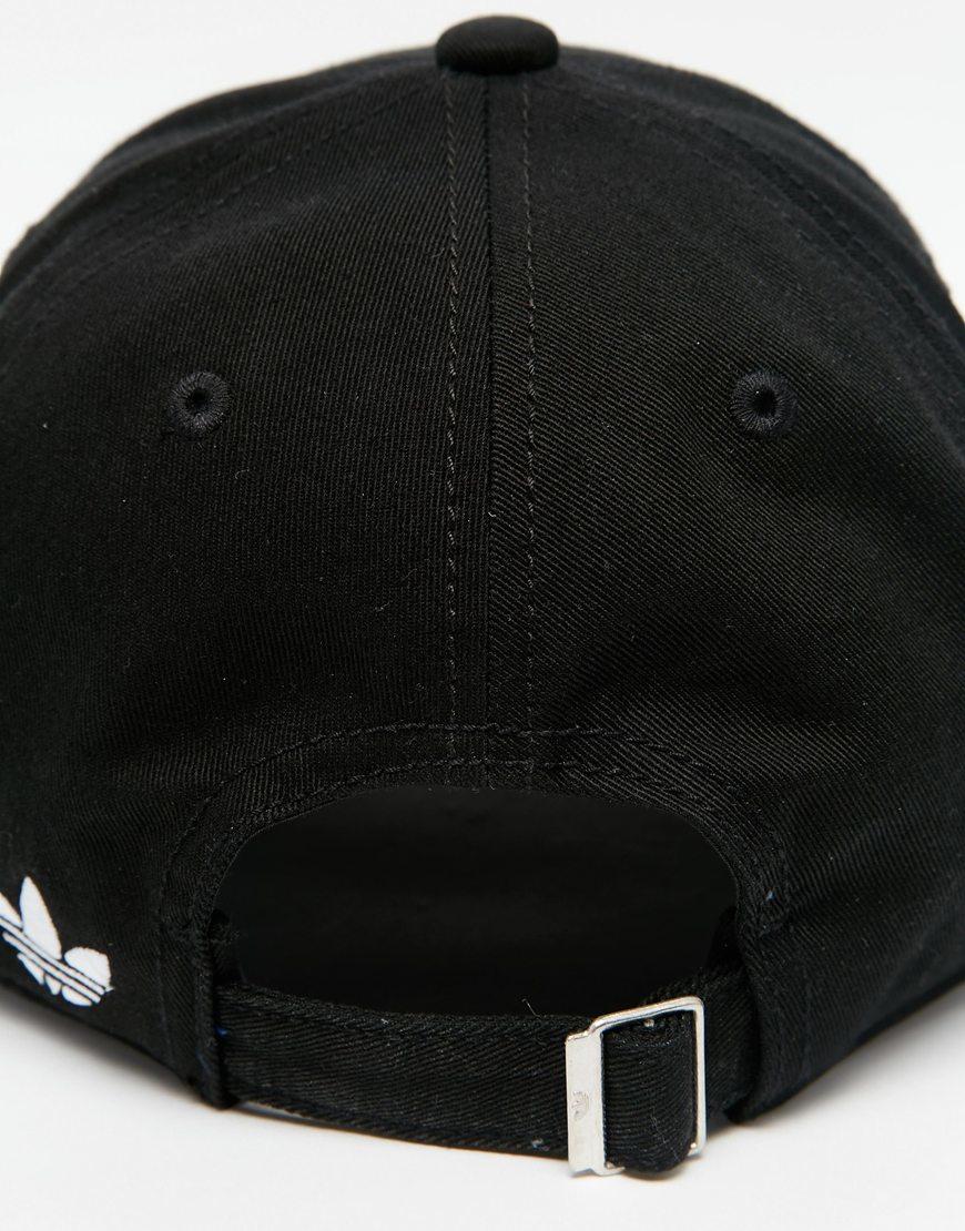 42aa211243b reduced adidas originals relaxed baseball cap nordstrom 88ef0 128cc  sweden adidas  originals trefoil cap in black in black for men lyst 7e46c 6f03a