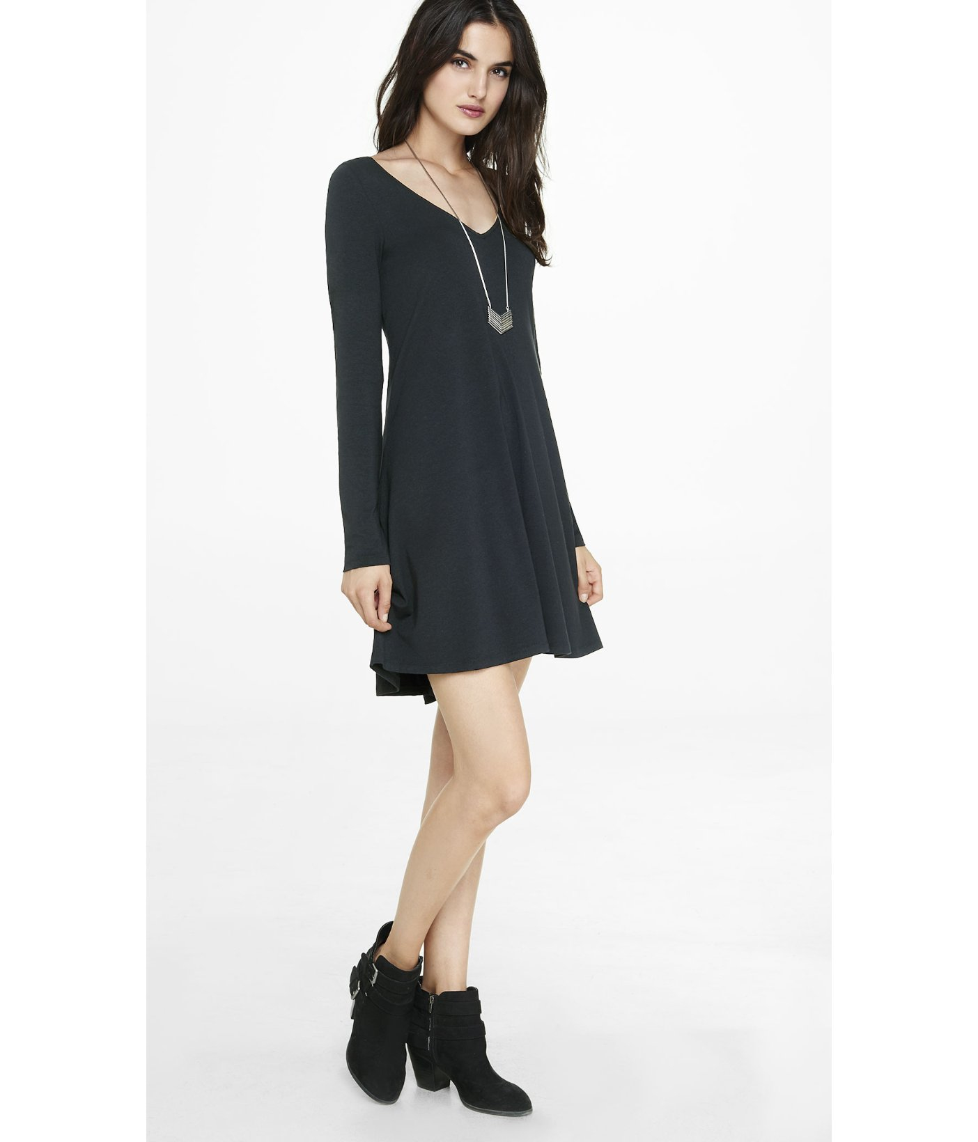 Trapeze dress with sleeves