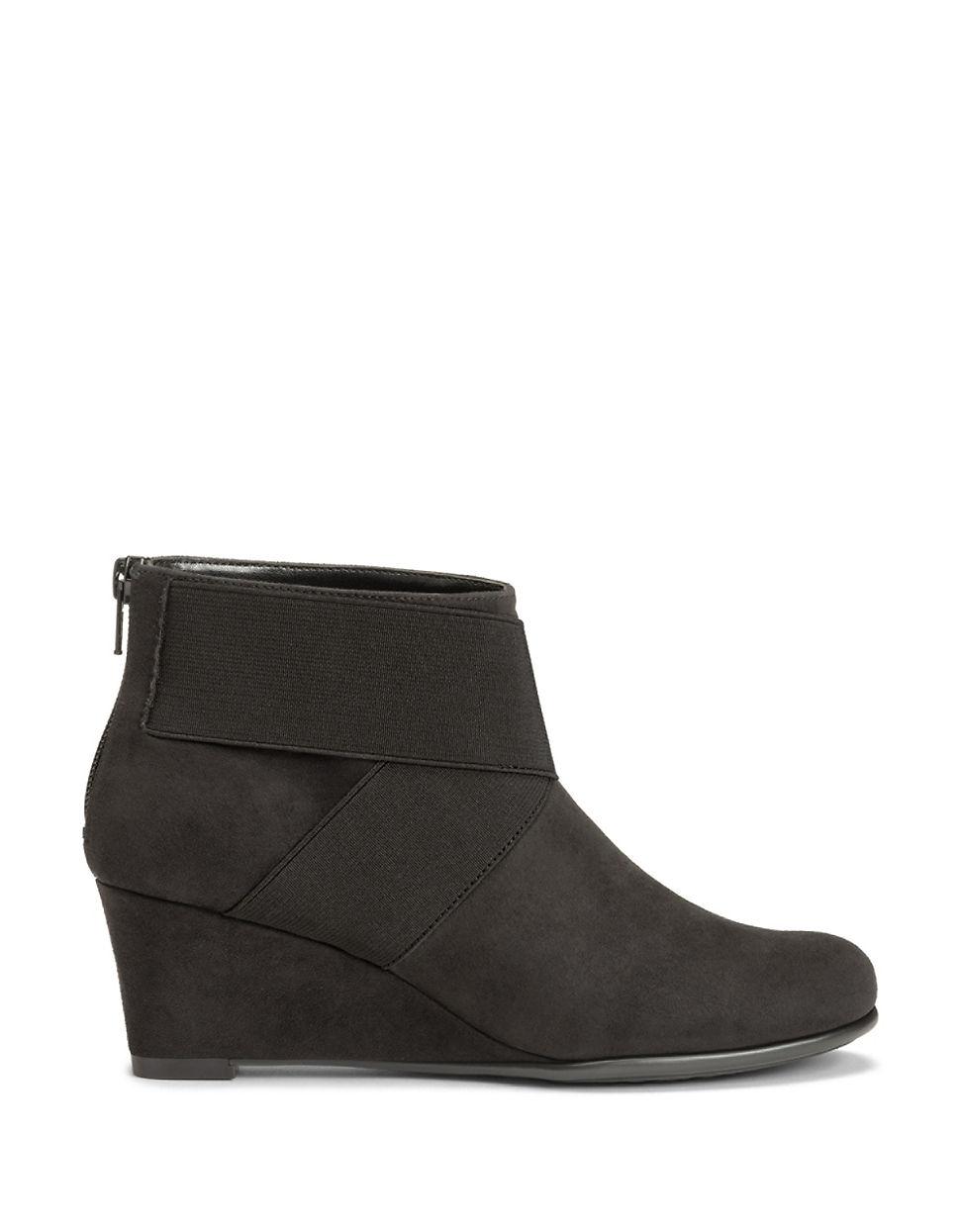 aerosoles sundae ankle boots in black lyst