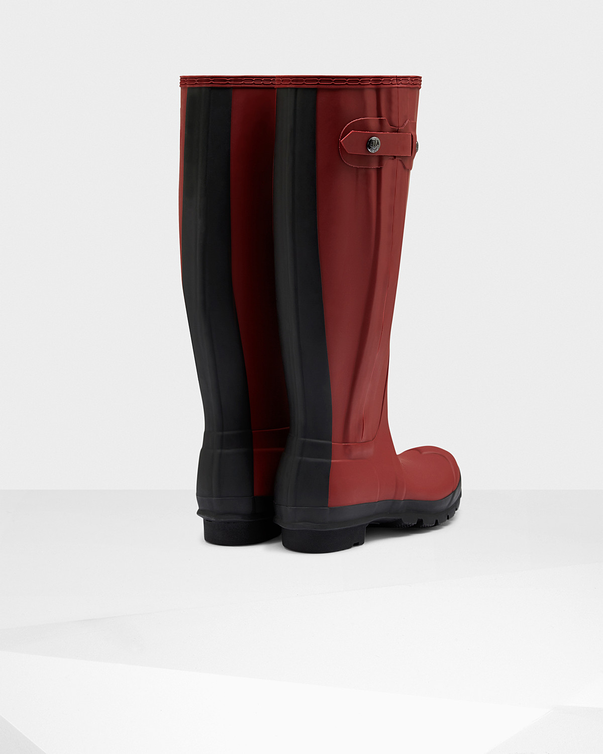 HUNTER Women's Original Slim Two Tone Wellington Boots in Red