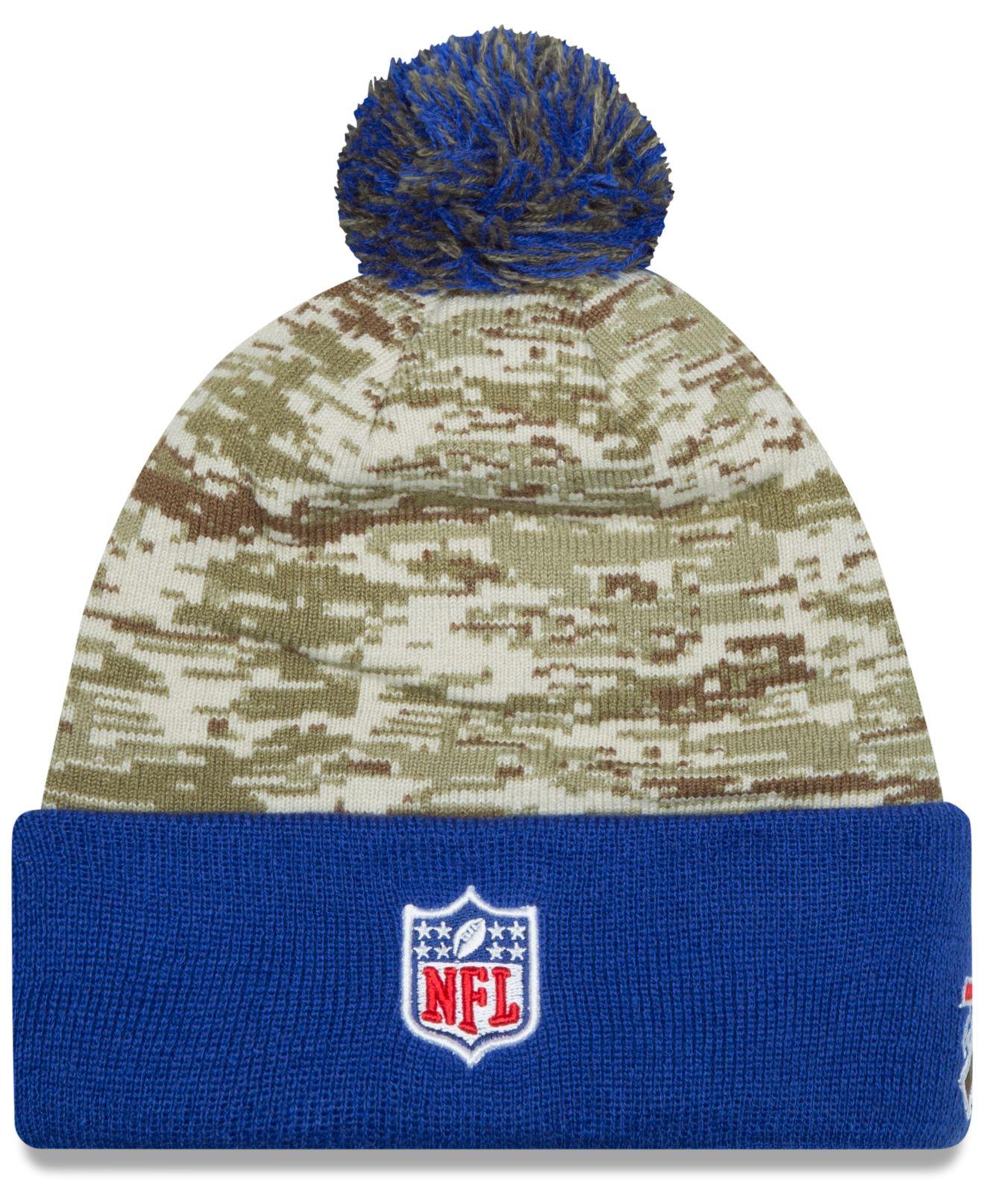 Lyst Ktz Buffalo Bills Salute To Service Knit Hat In Green For Men 615643211