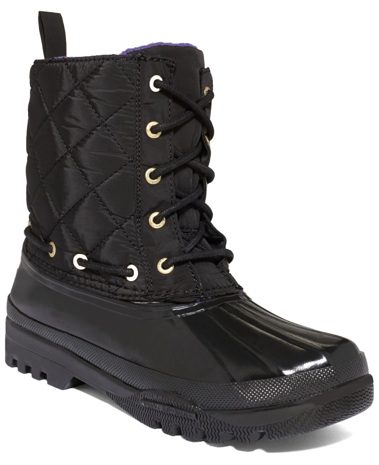 Sperry top-sider Women's Gosling Quilted Rain Boots in Black | Lyst