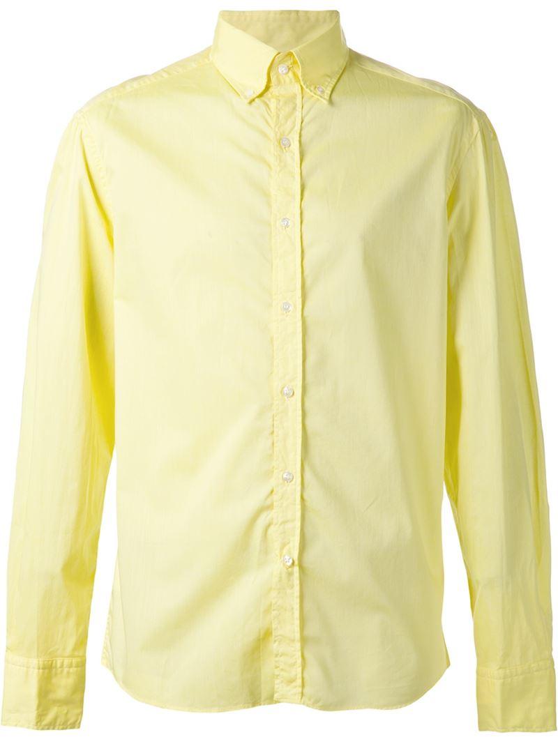 Michael bastian Classic Button Down Shirt in Yellow for Men | Lyst