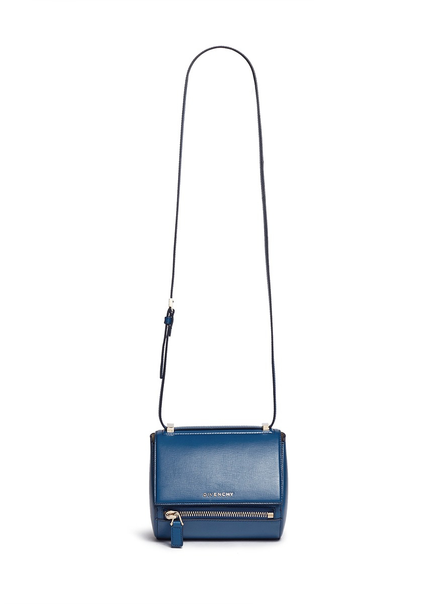 07545aac71f0d Givenchy 'pandora Box' Mini Leather Bag in Blue - Lyst