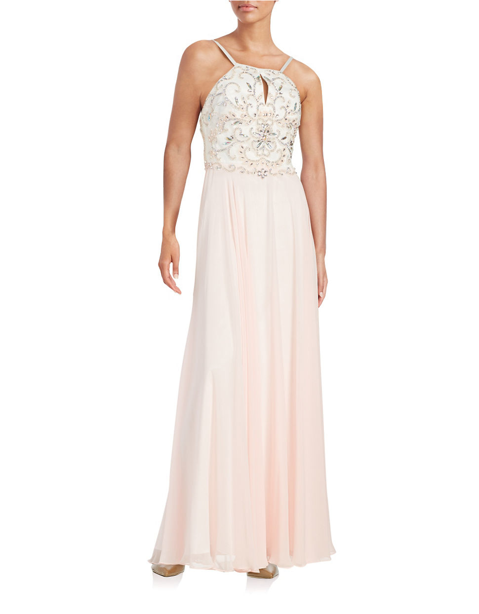 Pink Floor Length Xscape Mermaid Gown_Other dresses_dressesss