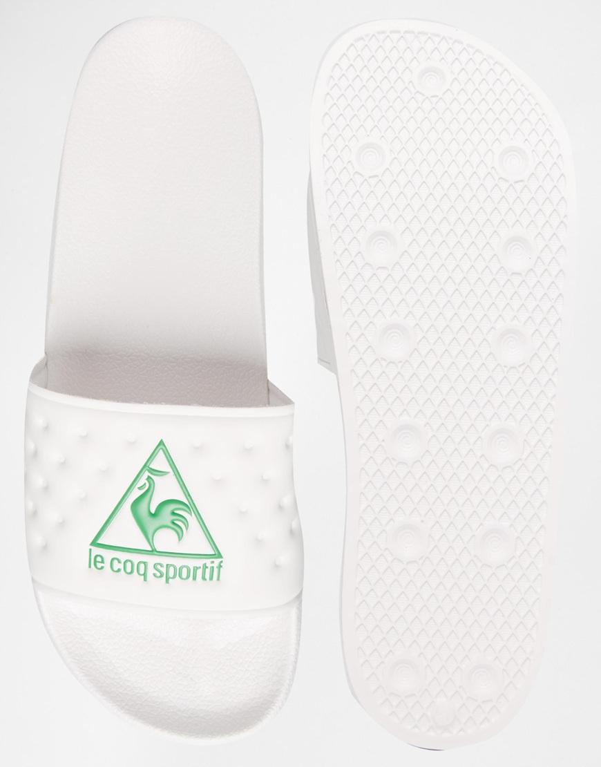 2f38cf17d6a0 Lyst - Le Coq Sportif La Claquette Slider Flip Flops in White for Men
