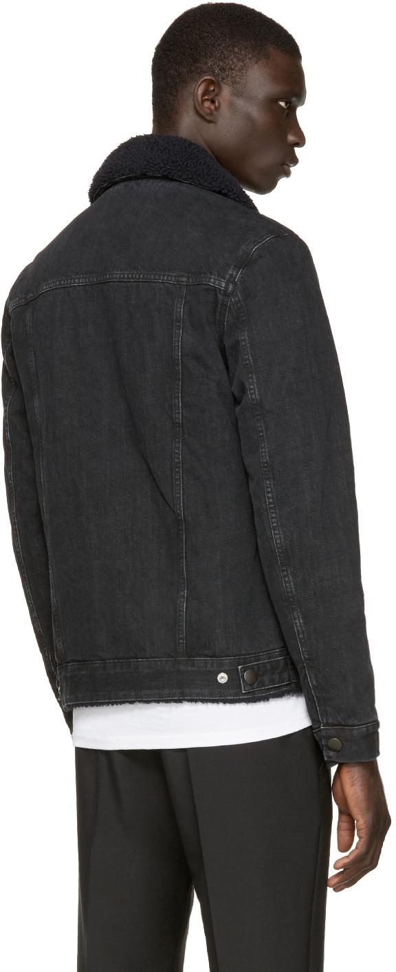 A.P.C. Black Denim Barry Jacket for Men