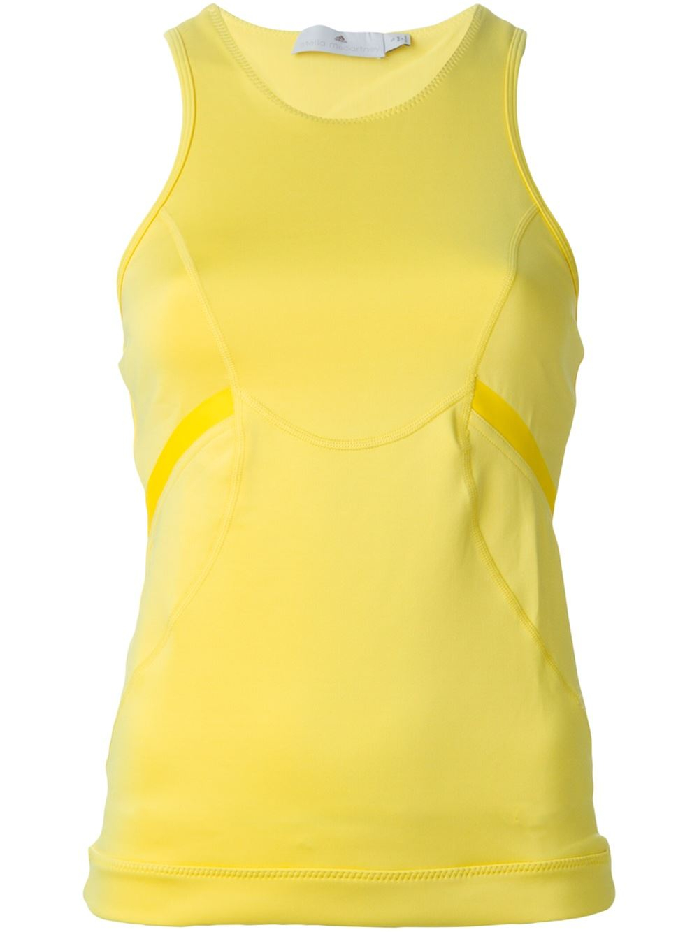 adidas by stella mccartney 39 studio 39 top in yellow yellow. Black Bedroom Furniture Sets. Home Design Ideas