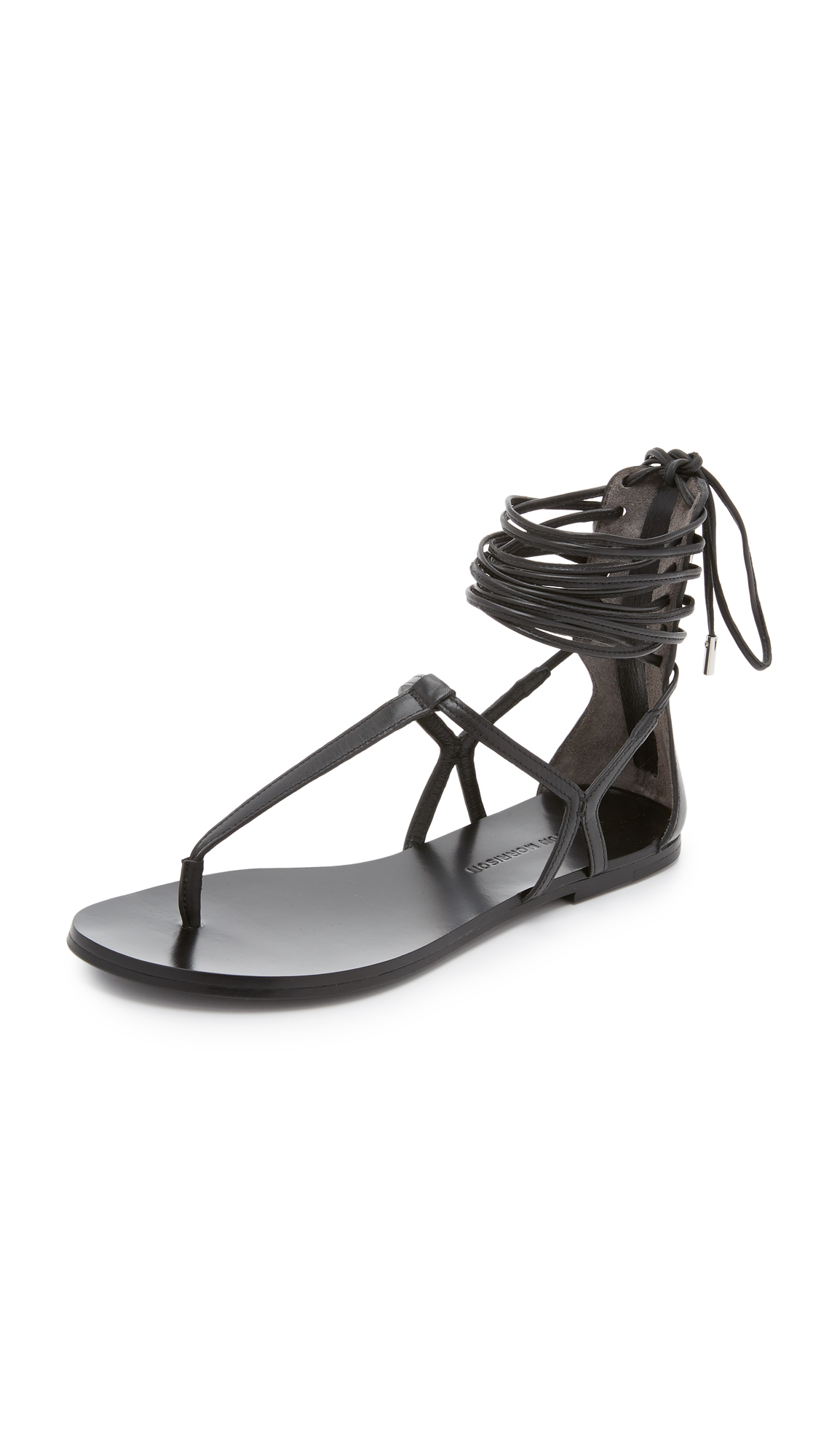 Lyst Sigerson Morrison Braze Thong Sandals In Black