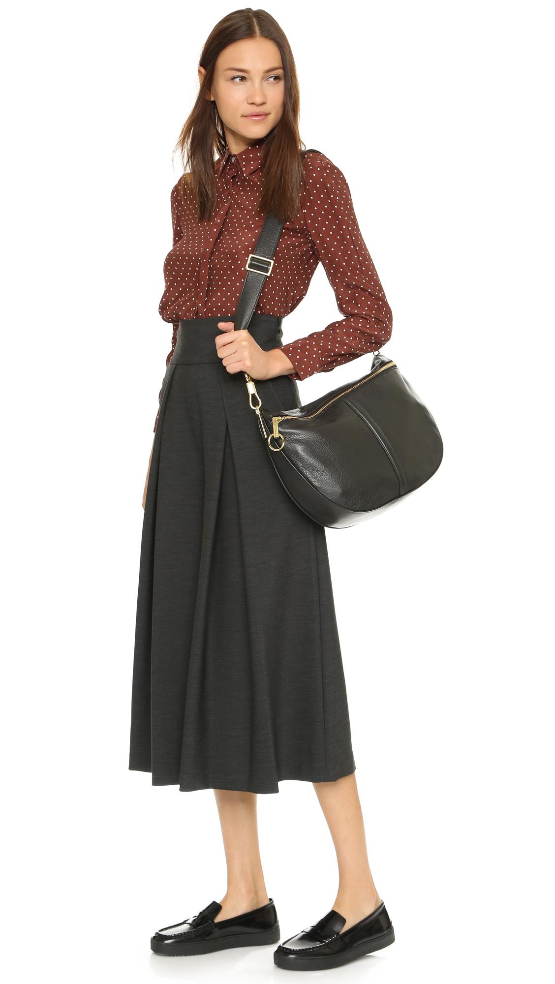 lyst elizabeth and james scott saddle bag in black. Black Bedroom Furniture Sets. Home Design Ideas