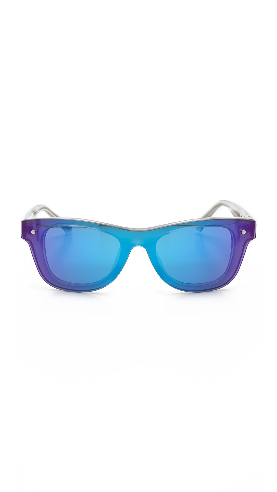 3.1 Phillip Lim Sunvapour Mirrored Sunglasses Blue Mirror