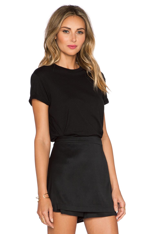 T by alexander wang crewneck tee in black lyst for Alexander wang t shirt women