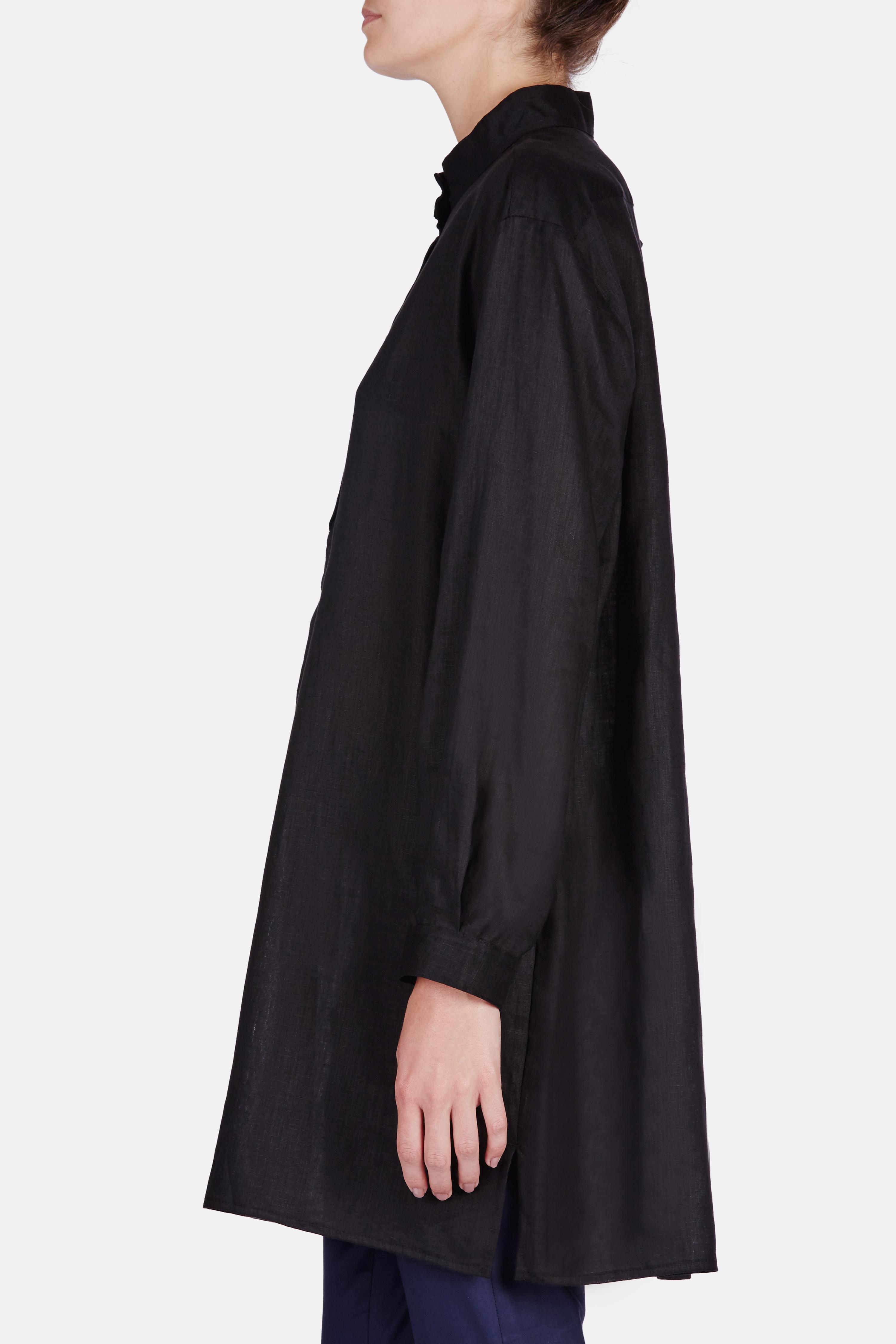 The Sleep Shirt Short Sleep Shirt In Black Lyst