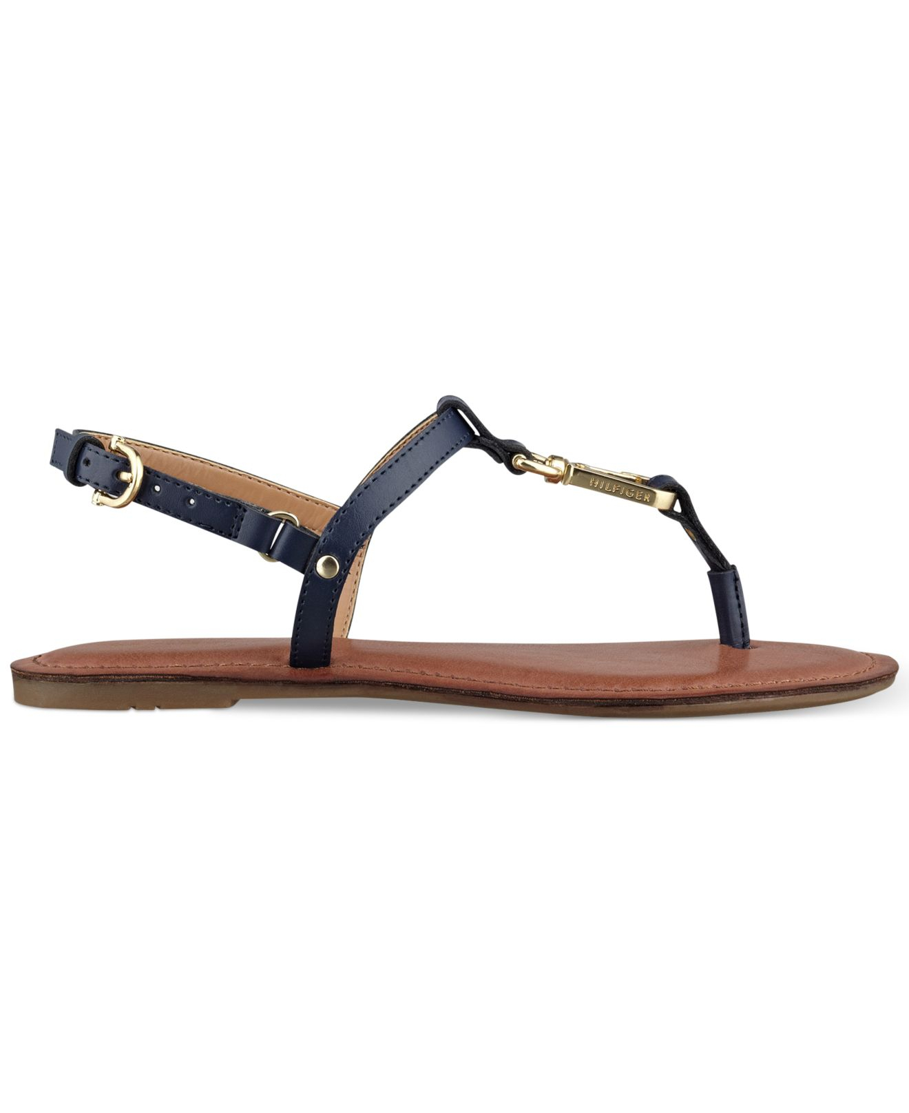 ff802e53d Lyst - Tommy Hilfiger Women S Lenita Thong Sandals in Blue