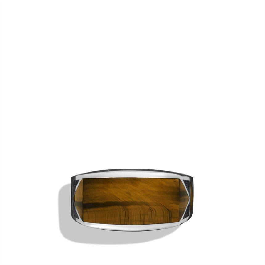 David yurman Frontier Ring with Tigers Eye in Silver (tiger) | Lyst