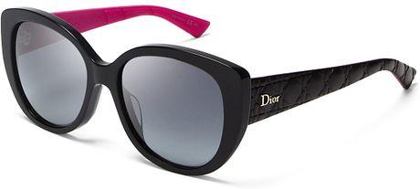 93a2c781a375 Dior Lady Oversized Cat Eye Sunglasses in Black (Black Fucshia Gray  Gradient)