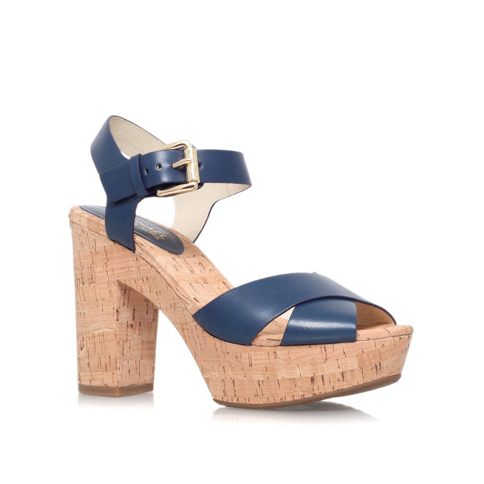 michael kors natalia platform high heel platform sandals. Black Bedroom Furniture Sets. Home Design Ideas