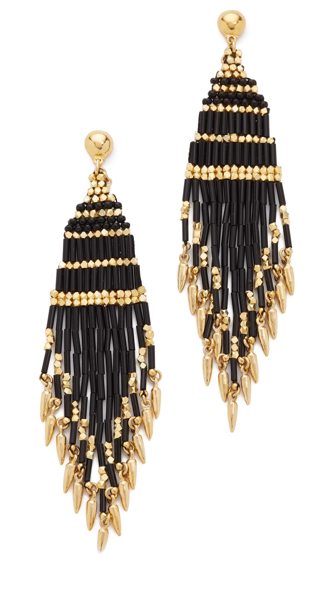 gas bijoux ulla earrings in metallic lyst