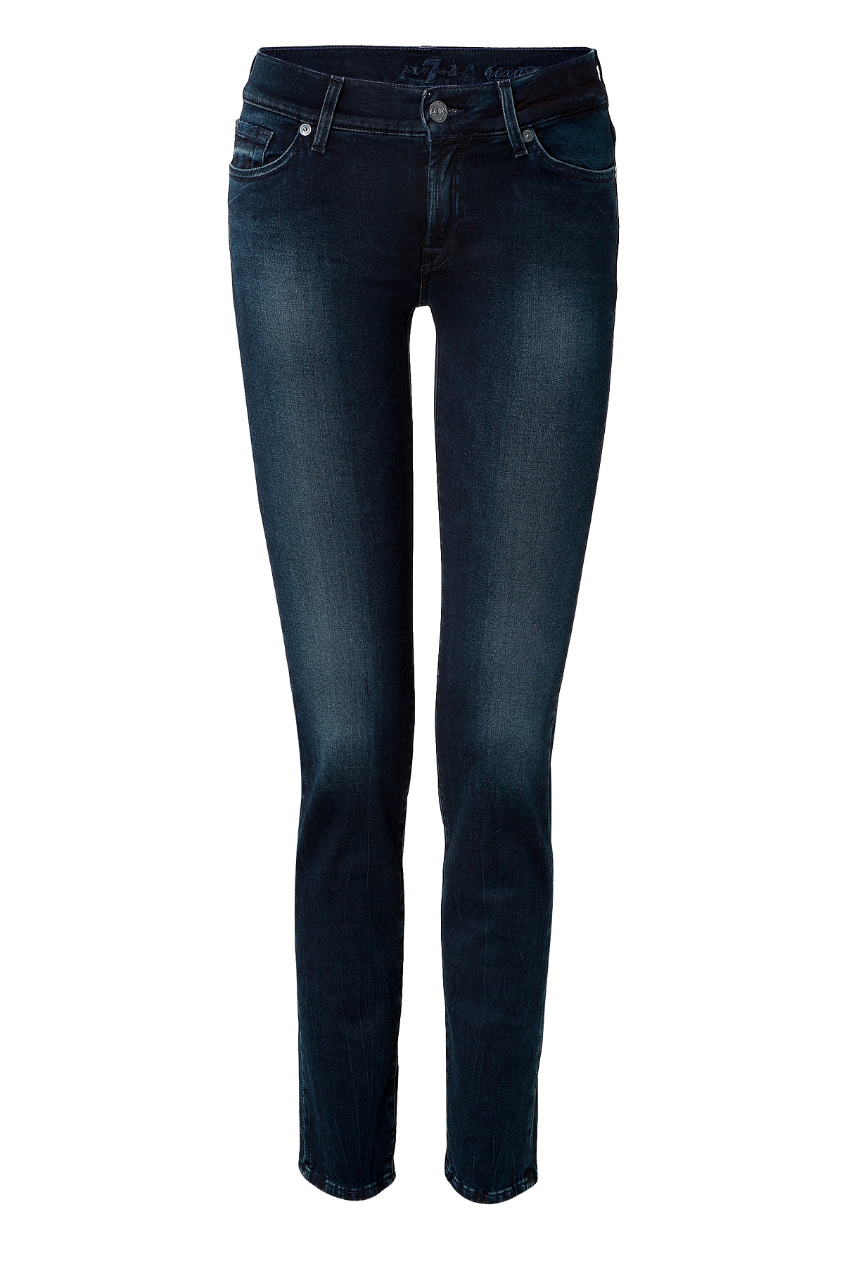 7 for all mankind roxanne skinny jeans in high dark indigo. Black Bedroom Furniture Sets. Home Design Ideas