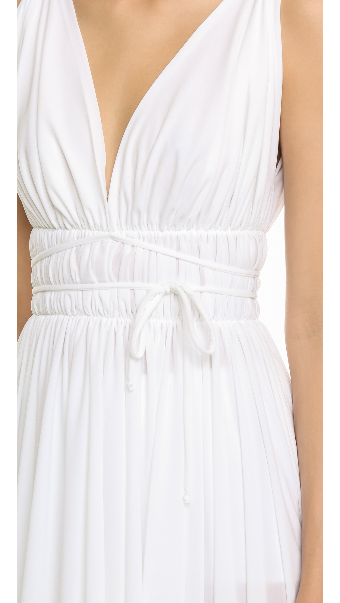 d776ea891cdcb Norma Kamali Goddess Asymmetrical Swim Dress - White in White - Lyst