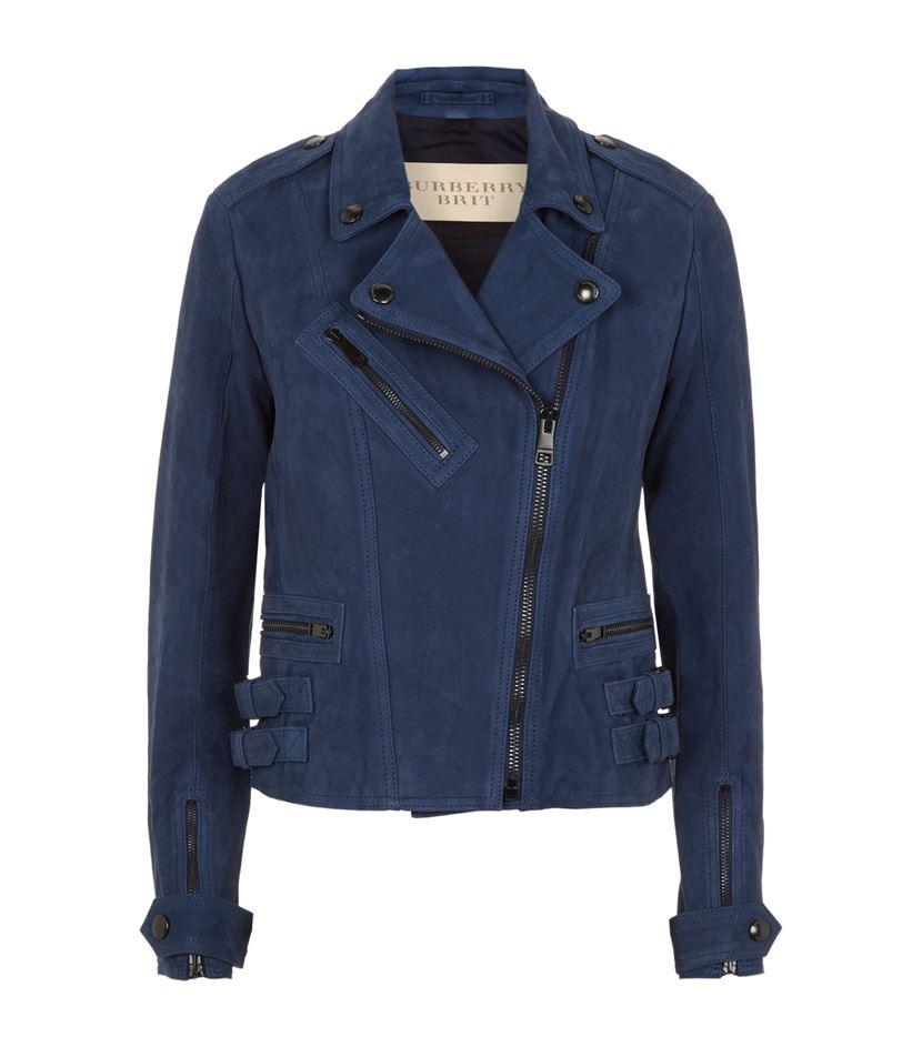 Nubuck leather jacket