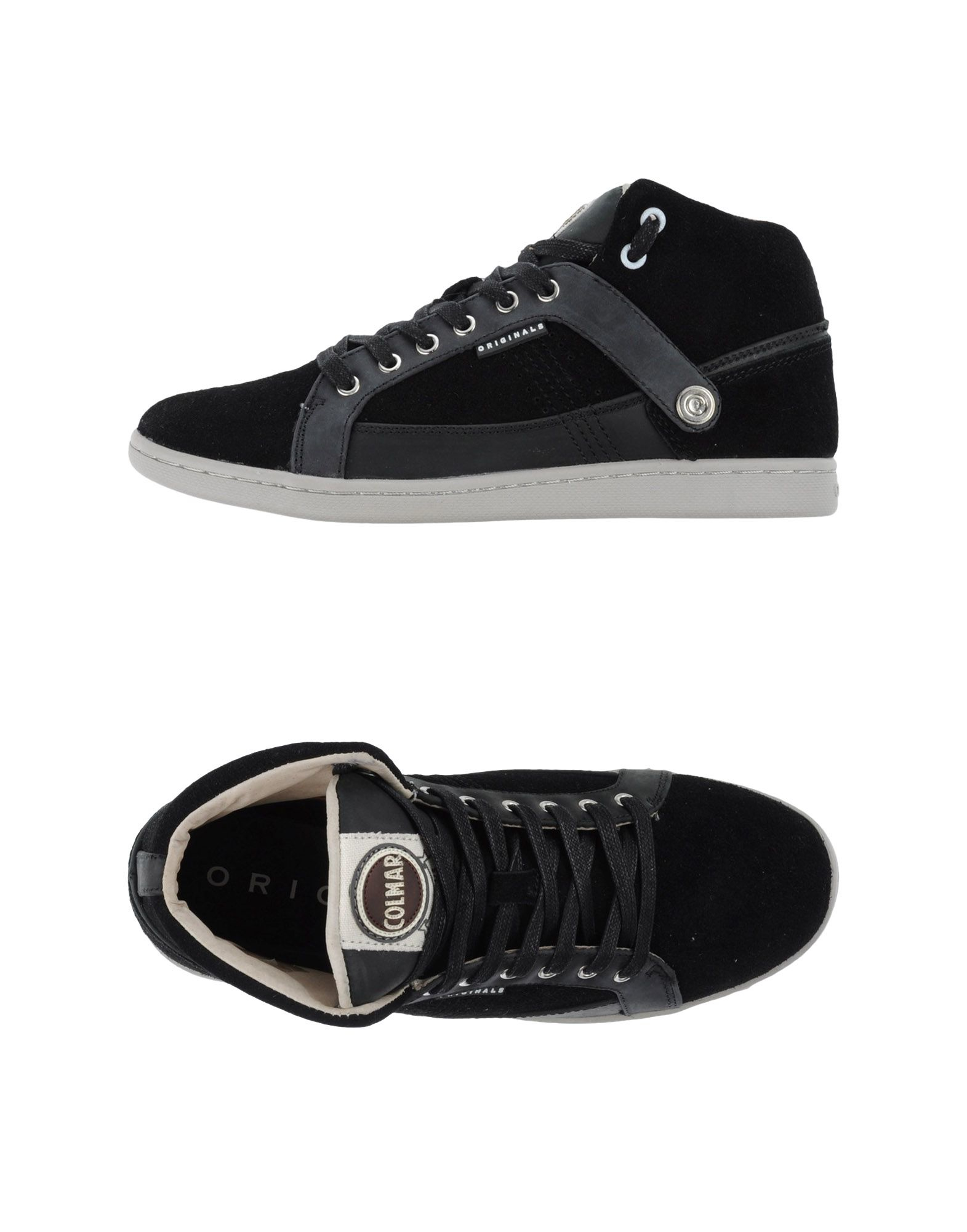 colmar high tops trainers in black for men lyst