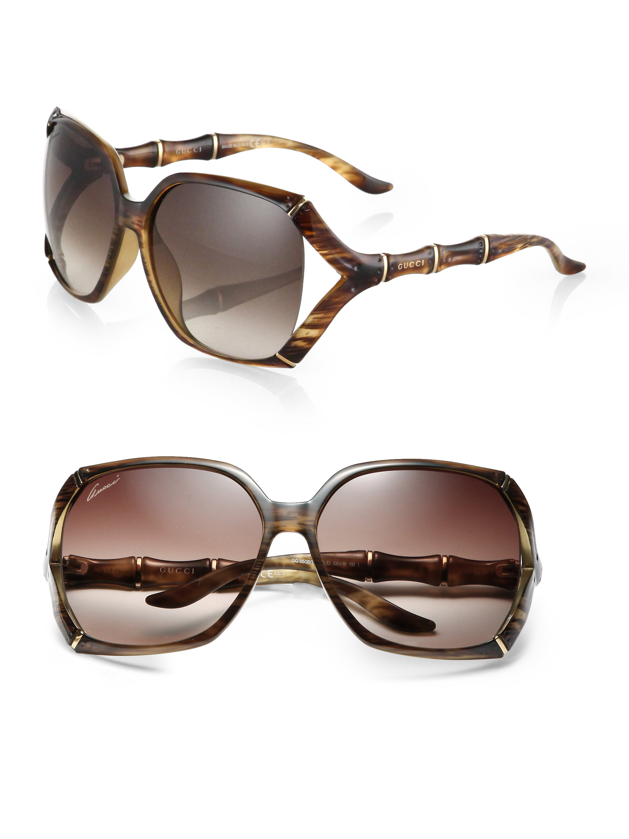 Gucci Sunglasses Bamboo Frame  gucci sunglasses in brown lyst