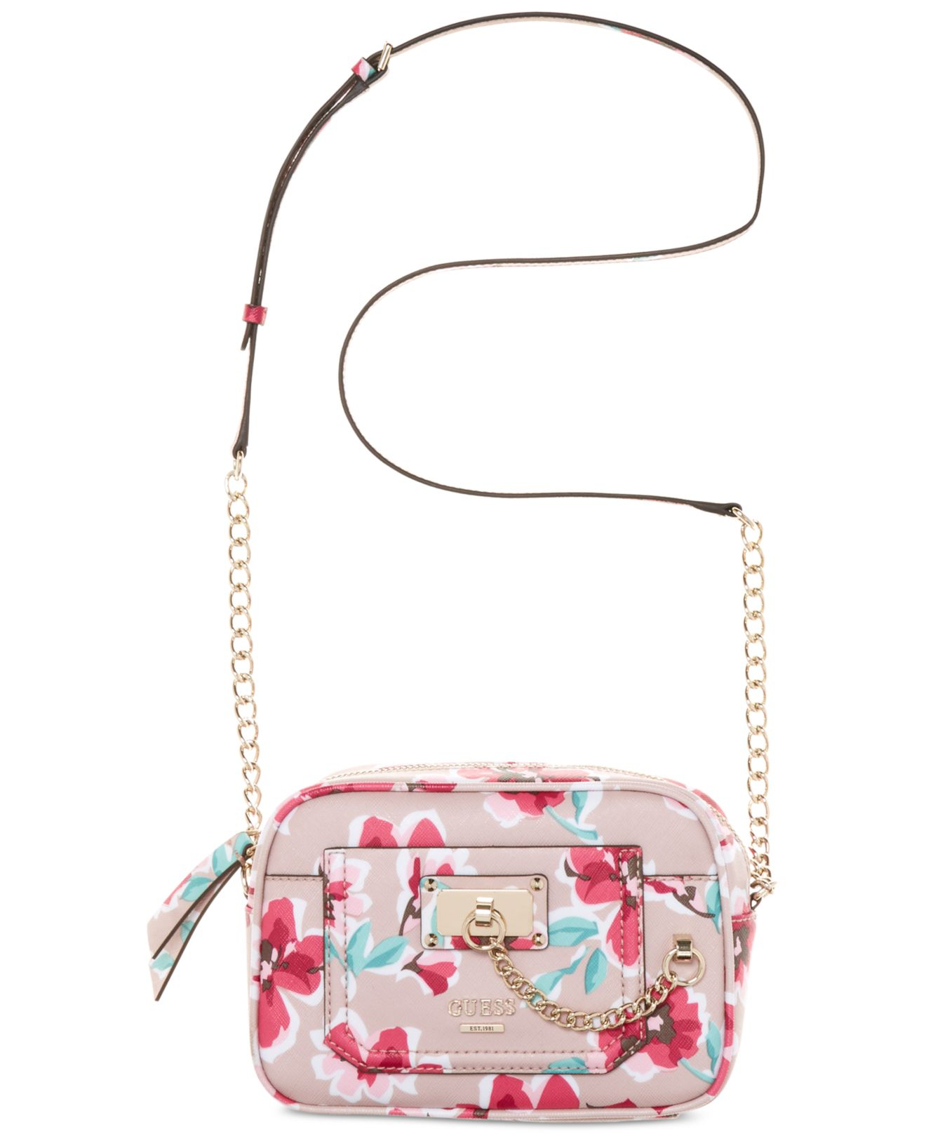d6f01d8a71 Lyst - Guess Forget Me Not Crossbody Camera Bag in Pink