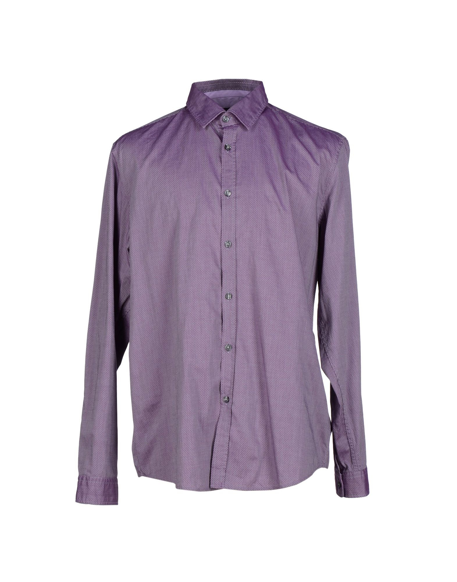 Boss black shirt in purple for men lyst Light purple dress shirt men
