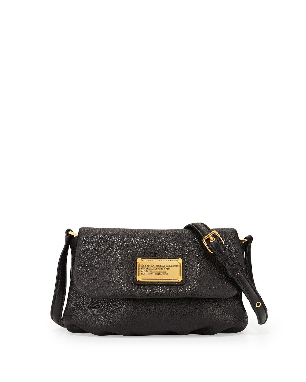 7da7ee61b85b3 Lyst - Marc By Marc Jacobs Classic Q Percy Flap Crossbody Bag Black ...