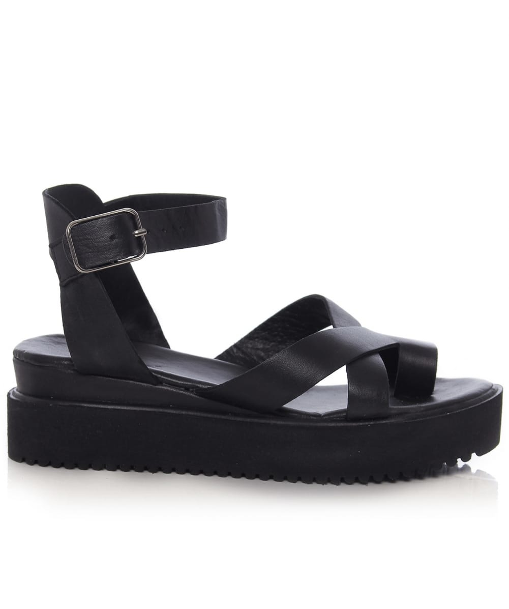 new arrival the best best service Inuovo Leather Multi Strap Sandals in Black - Lyst