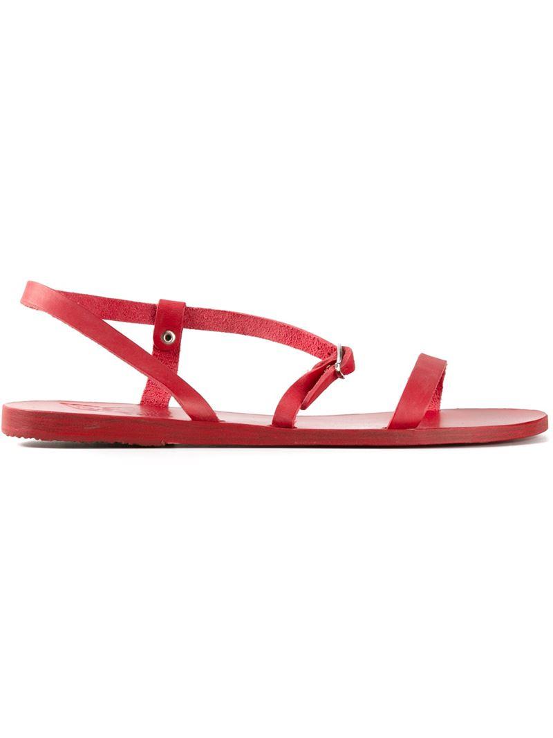 Oficial Ancient Greek Sandals Sandalo piatto 'Semele' - Metallic farfetch crema Precio Al Por Mayor Para La Venta Mejor Tienda Para Obtener El Precio Barato kHa7yYL