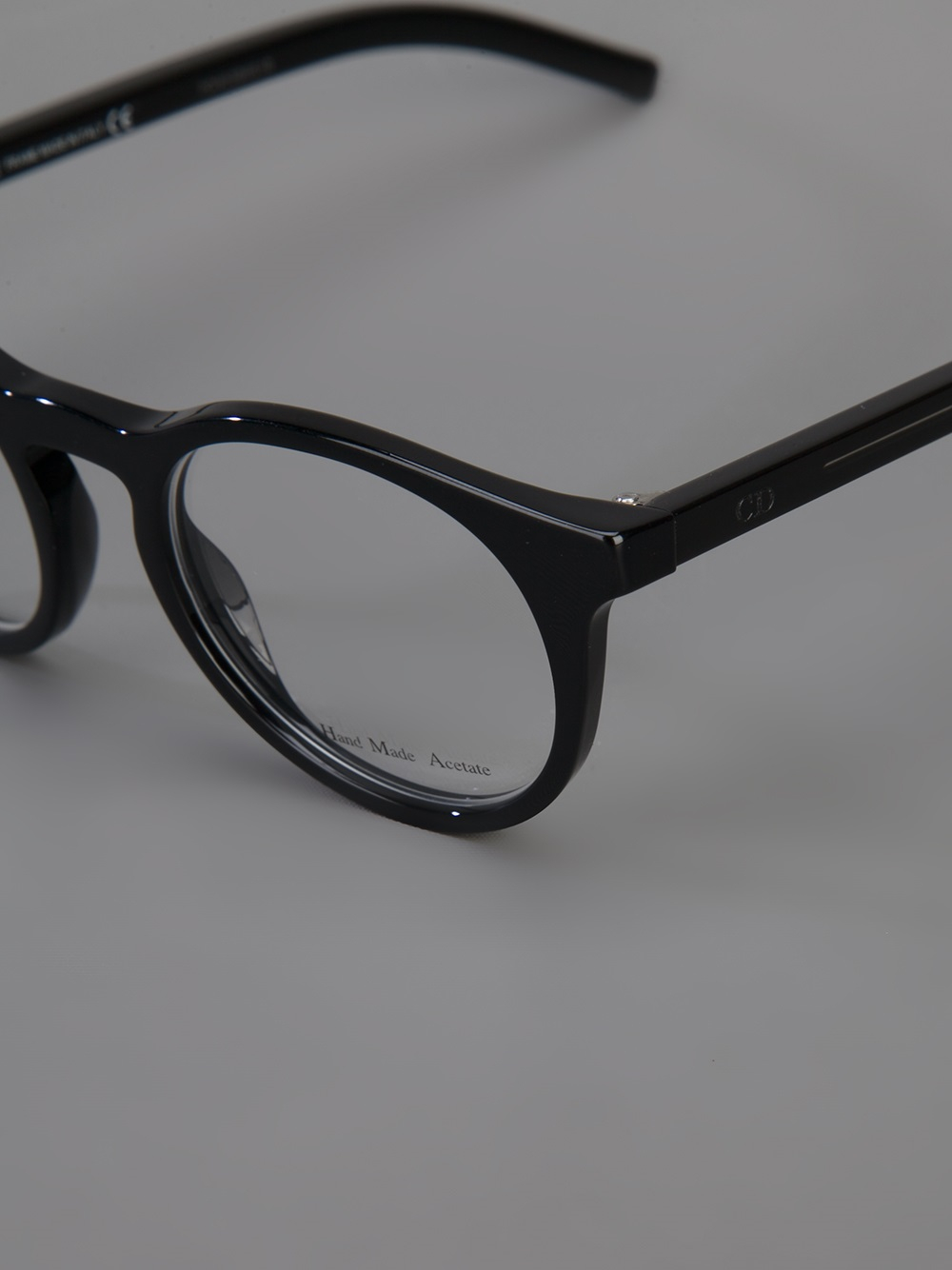 Dior homme Round Frame Glasses in Black for Men Lyst