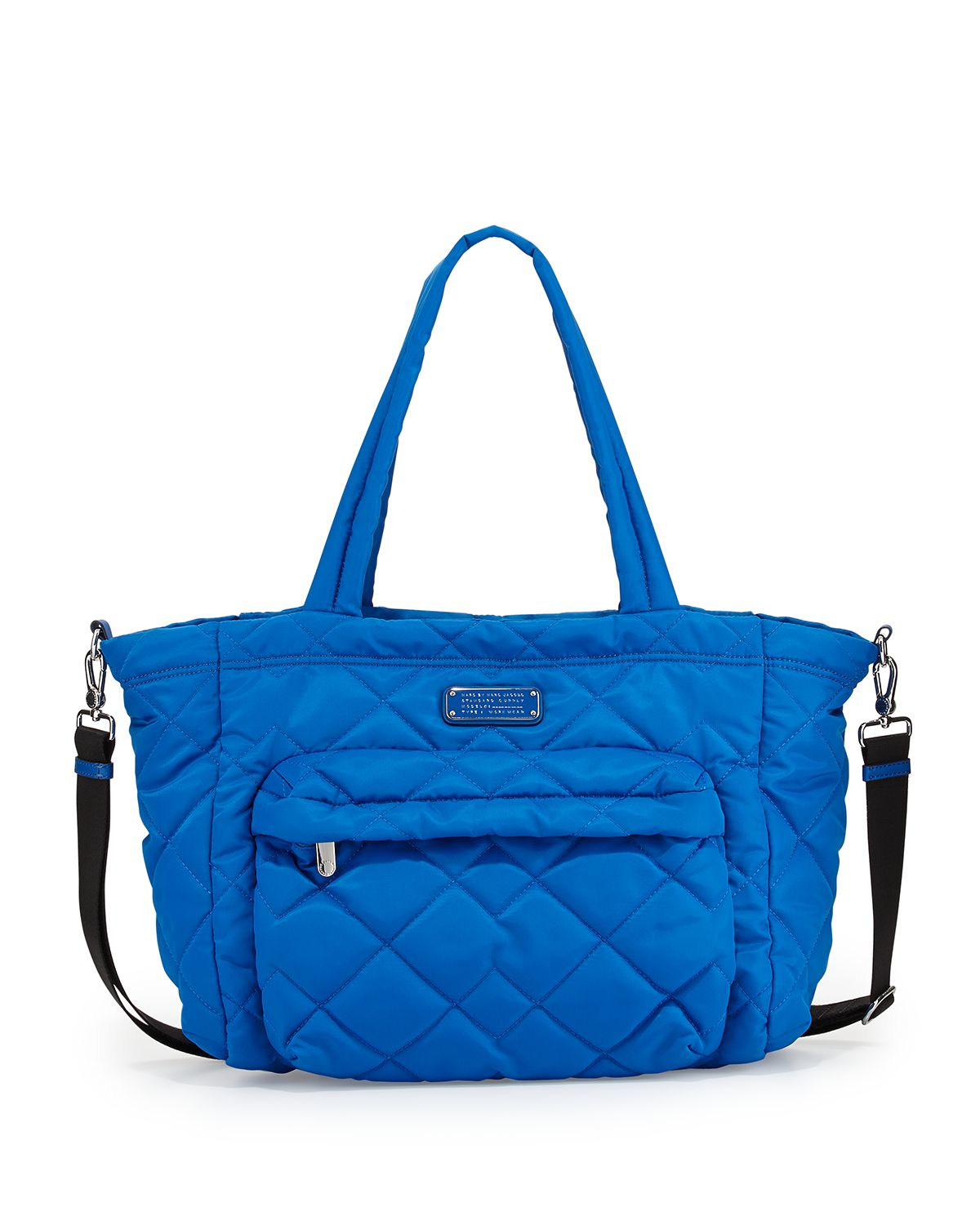 marc by marc jacobs crosby quilt nylon diaper bag in blue. Black Bedroom Furniture Sets. Home Design Ideas