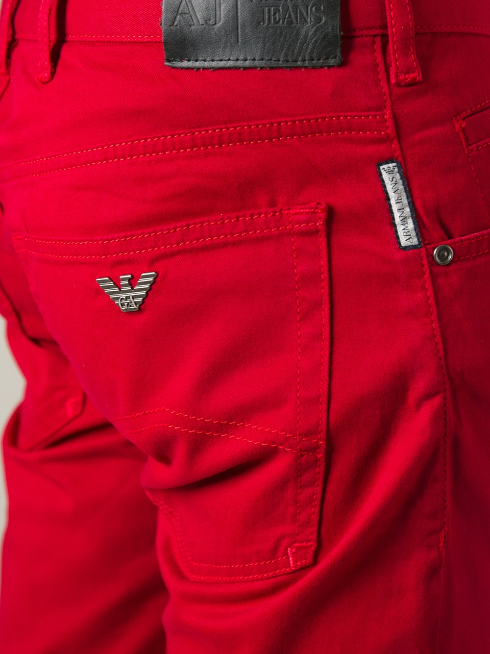 Armani jeans Denim Shorts in Red for Men | Lyst