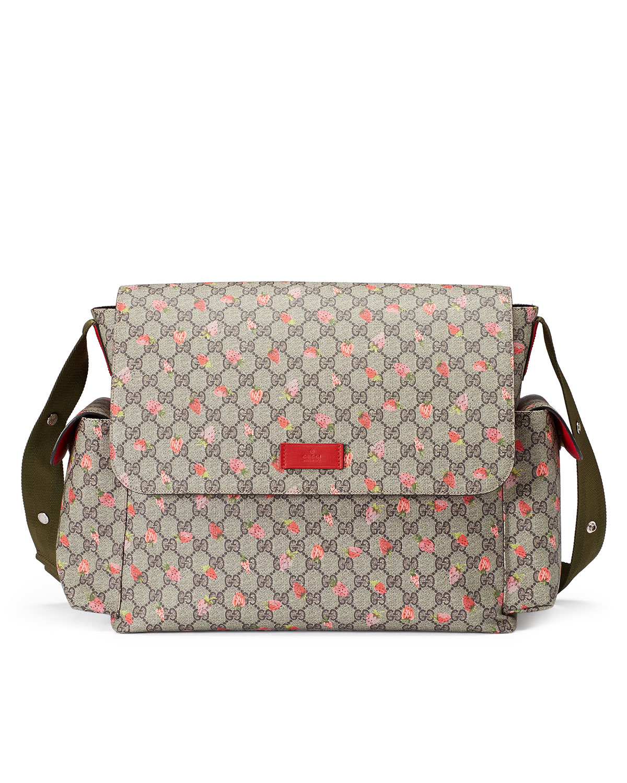 f3969791b95c Gucci Strawberry-print Gg Canvas Diaper Bag in Natural - Lyst