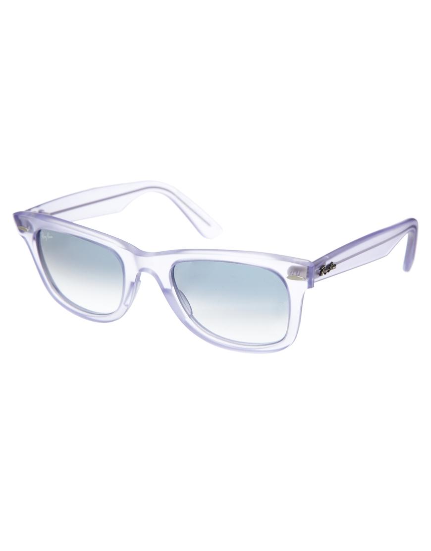 3d7e1f9ef9 Lyst - Ray-Ban Original Wayfarer Translucent Sunglasses in Purple