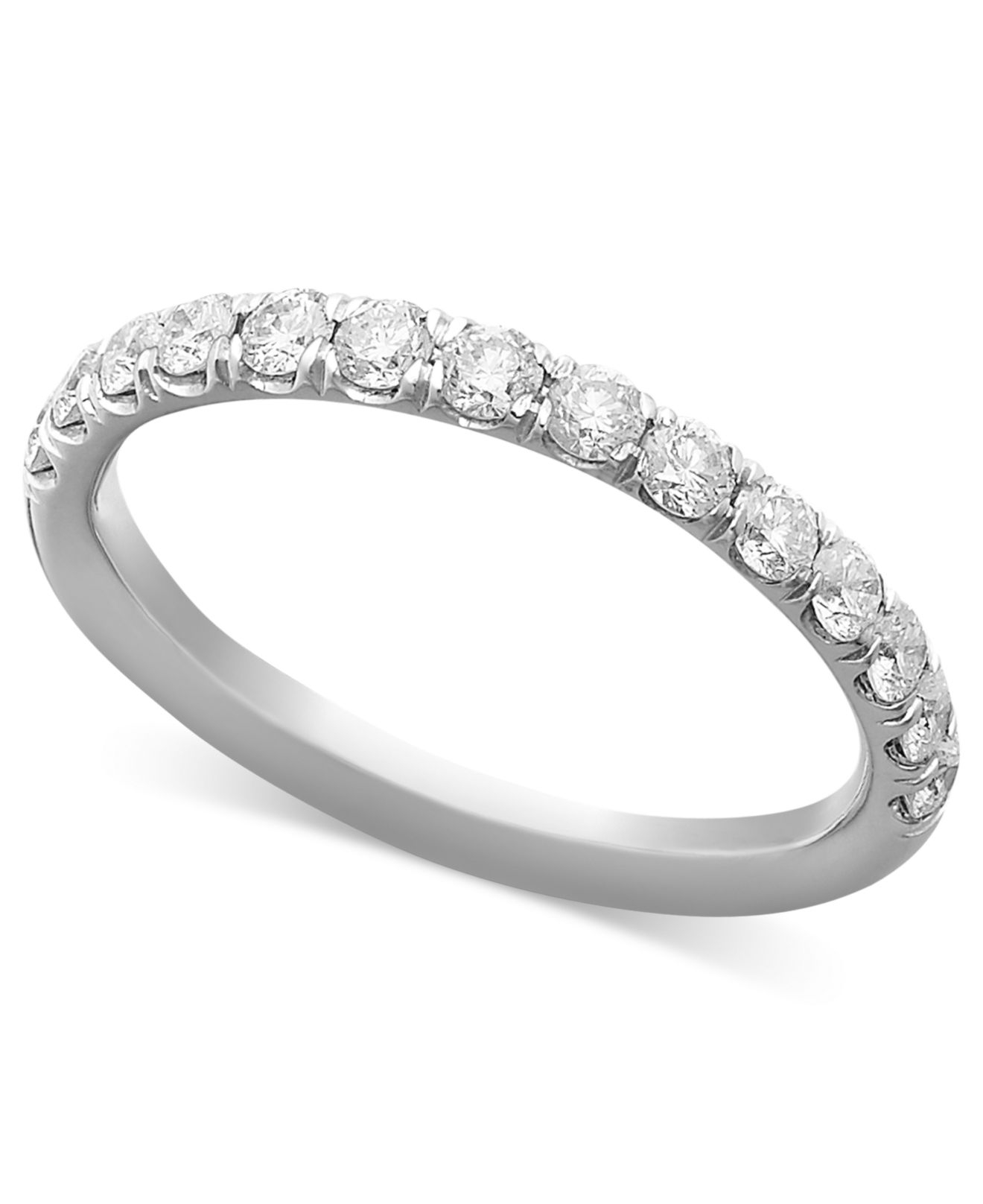 Macy's Pave Diamond Band Ring In 14k White Or Yellow Gold
