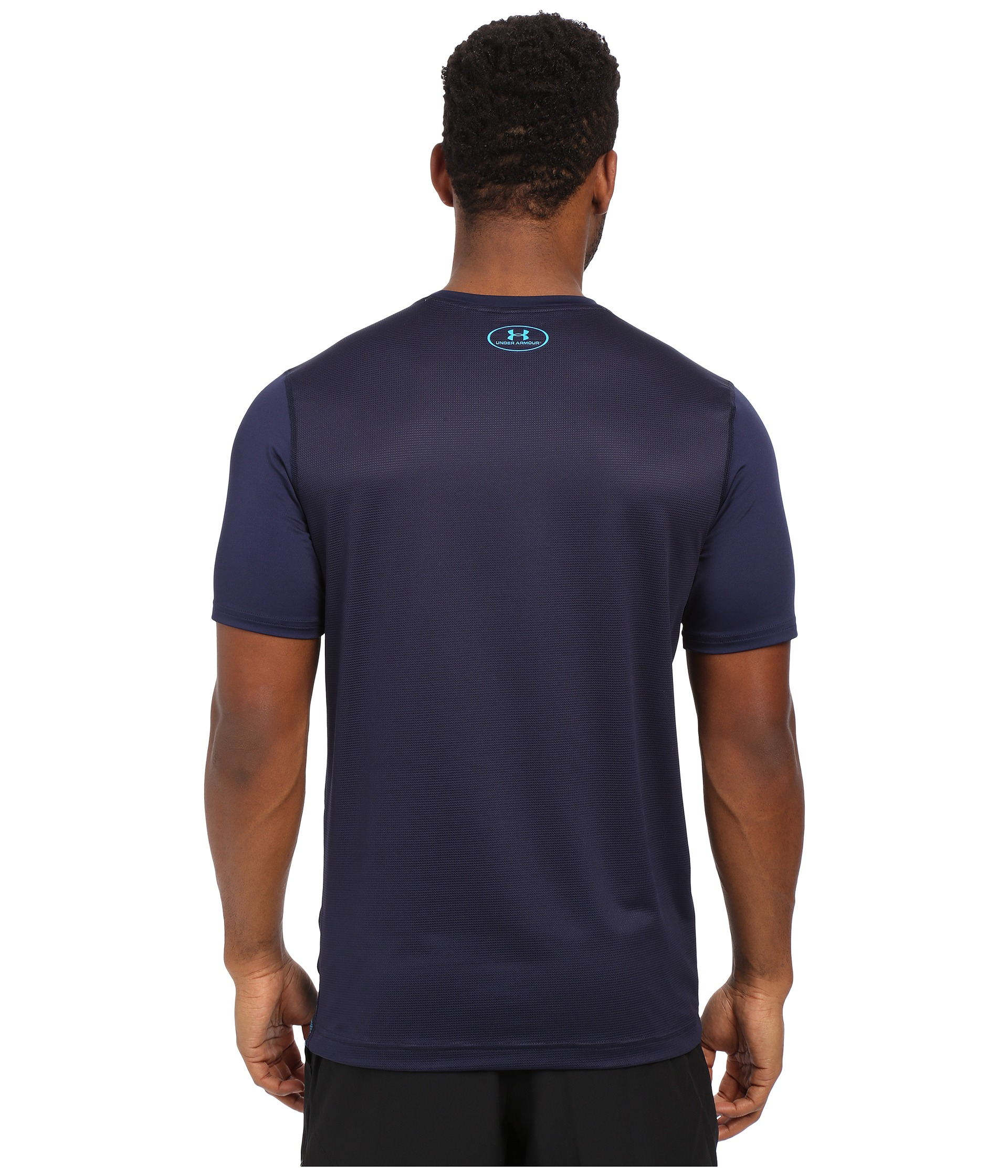 Under Armour Ua Raid Graphic Tee In Blue For Men Lyst