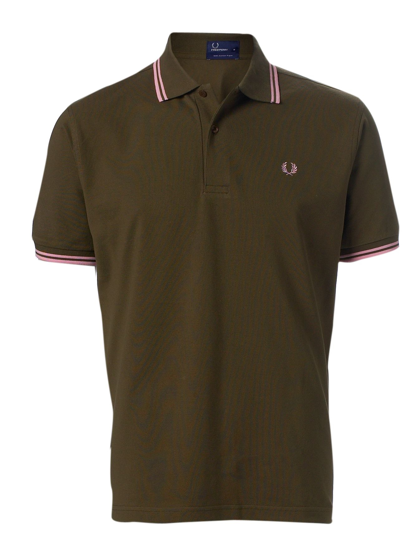 fred perry short sleeved twin tipped polo shirt in green. Black Bedroom Furniture Sets. Home Design Ideas
