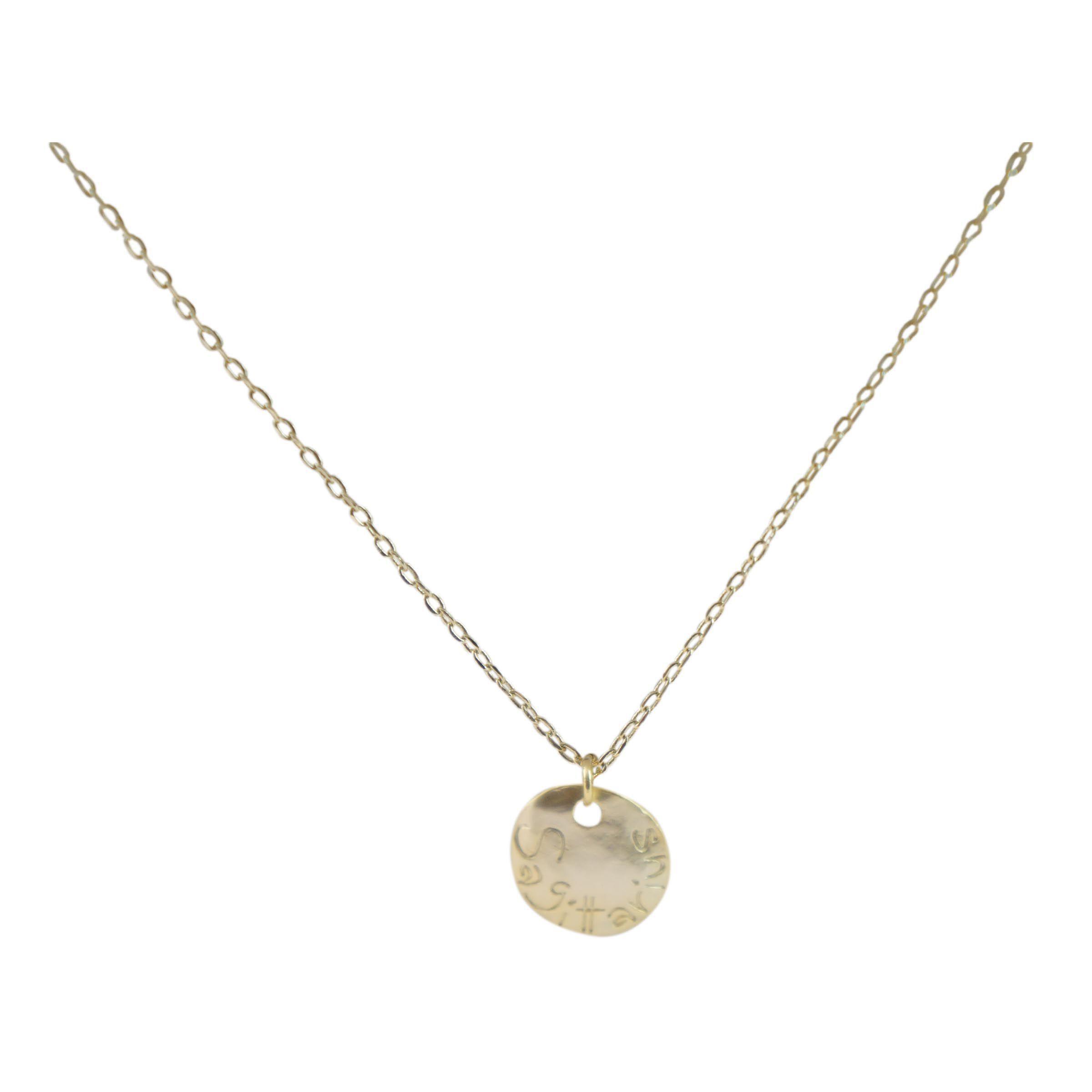 Ziba Layered Sagittarius Necklace in Metallic