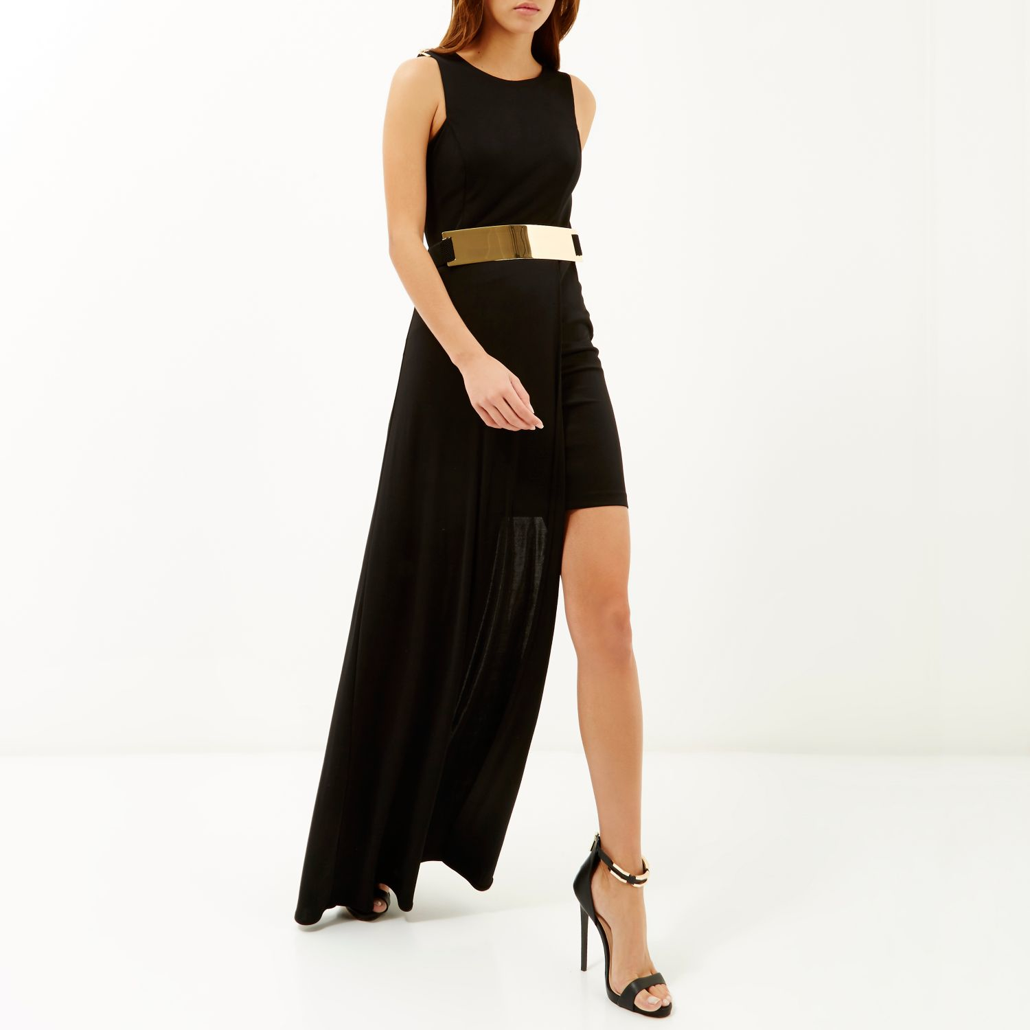 Black dress gold belt - Gallery