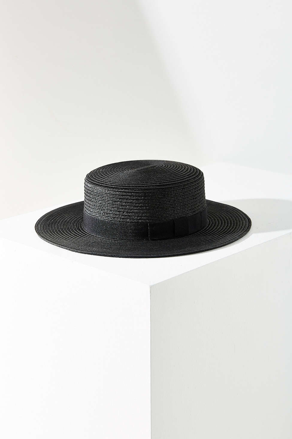 Lyst Urban Outfitters Madeline Straw Boater Hat In Black
