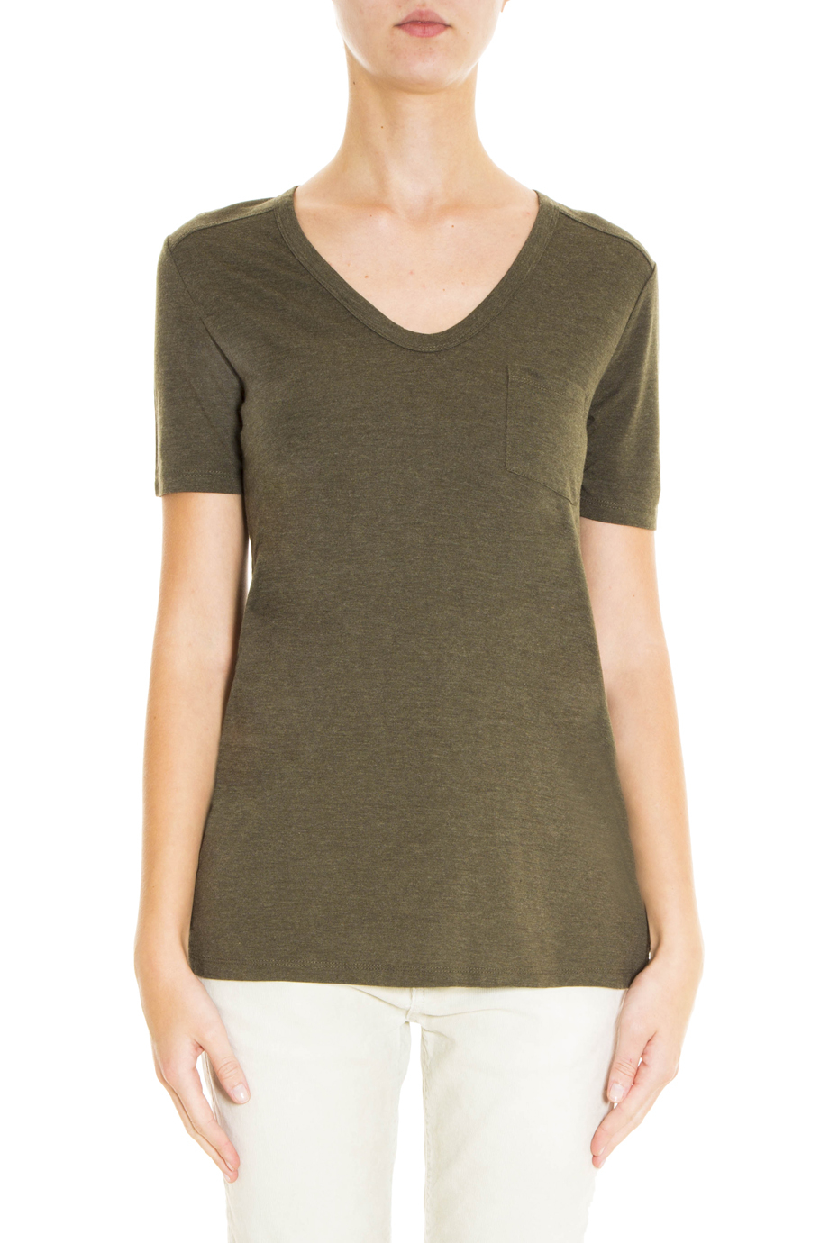 Lyst t by alexander wang classic t shirt in green for Alexander wang t shirt women