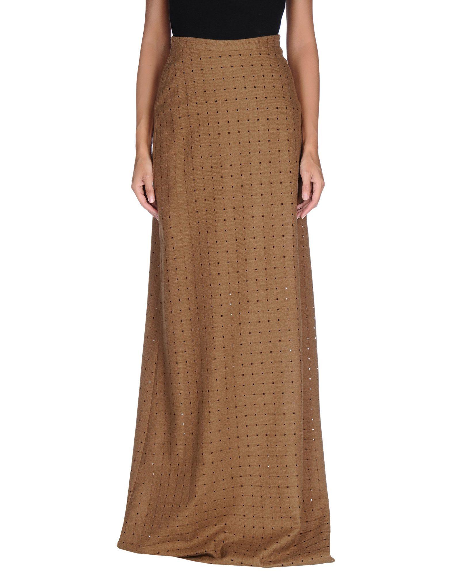 Maurizio pecoraro long skirt in brown lyst for Maurizio pecoraro shop on line