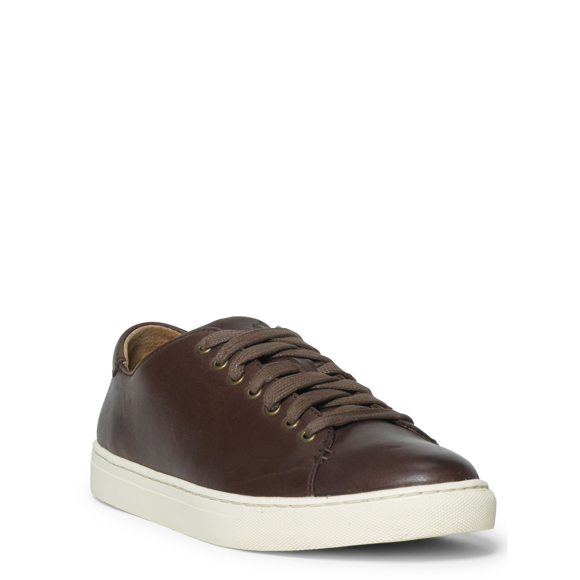 polo ralph lauren jermain leather sneaker in brown for men lyst. Black Bedroom Furniture Sets. Home Design Ideas