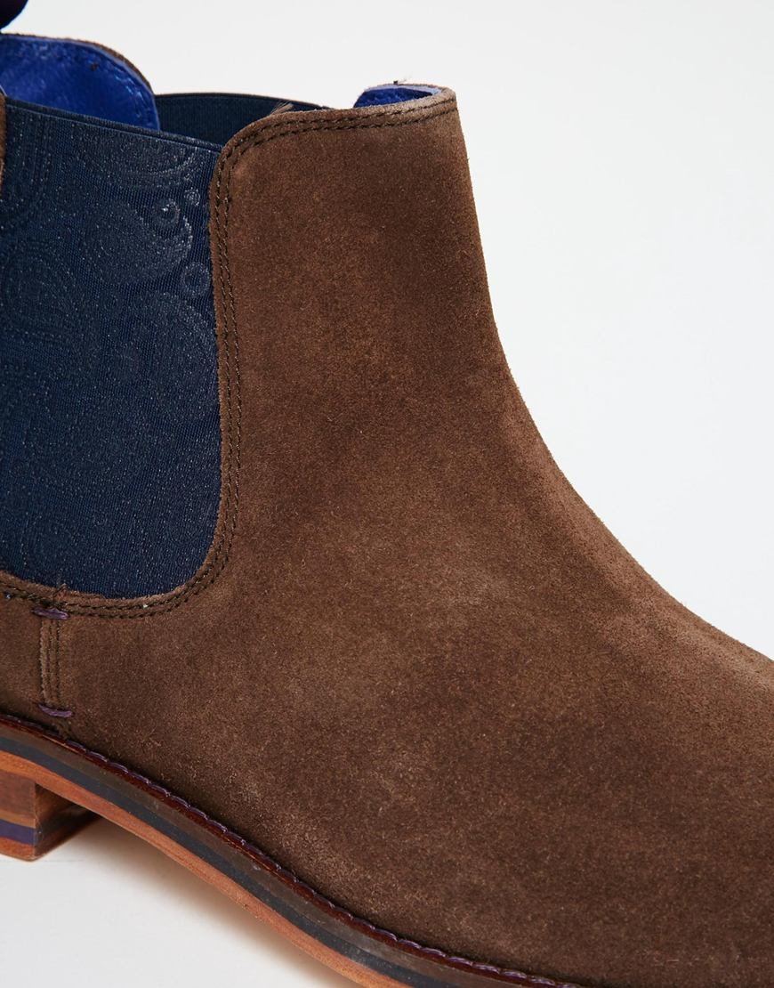 9300fa92c447de Lyst - Ted Baker Camroon Suede Chelsea Boots in Brown for Men